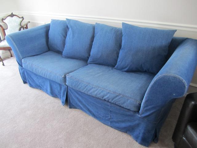 Denim Sofa Slipcover Furniture Slipcover In Rugged 100