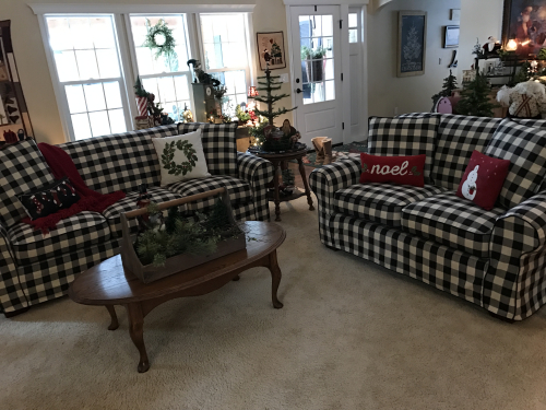 Buffalo Check Sofa Piping And Pleats Thesofa